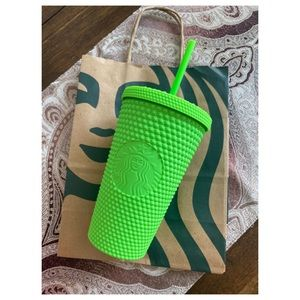Starbucks Neon Green Studded Soft Touch Cold Cup